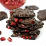 Pomegranate And Dried Blueberry Chocolate Bark